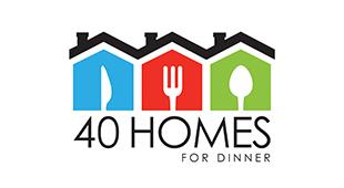 40 Homes for Dinner Logo
