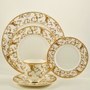 Annatolia White & Gold Dinnerware