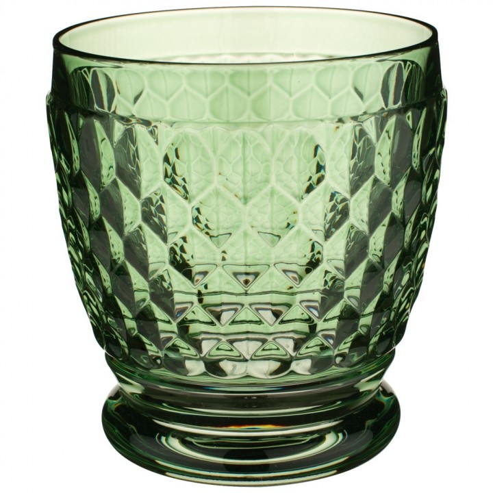 Green Double Old Fashioned Glass 10cm 330ml William