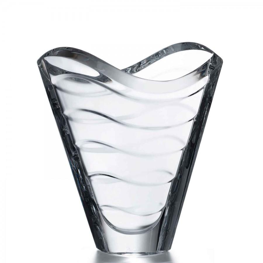 Small Crystal Flower Vase Cm William Ashley