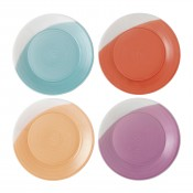 Set/4 Assorted Colours Dessert/Salad Plates, 24cm - Brights