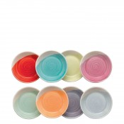 Set/8 Assorted Colours Round Tapas Dipping/Sauce Dishes, 8.5cm