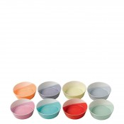 Set/8 Assorted Colours Tapas/Small Bowls, 12cm