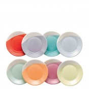 Set/8 Assorted Colours Round Tapas/Tidbit  Plates, 16cm