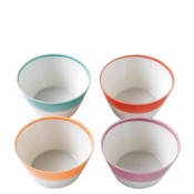 Set/4 Assorted Colours All Purpose/Cereal Bowls, 15cm, 650ml - Brights