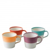 Set/4 Assorted Colours Mugs, 9cm, 400ml - Brights