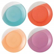 Set/4 Assorted Colours Dinner Plates, 28.5cm - Brights