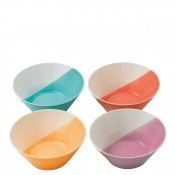 Set/4 Assorted Colours Noodle Bowls, 21cm - Brights