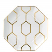 Octagonal Accent Plate, 23cm - White