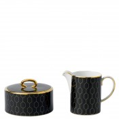 Creamer & Covered Sugar Bowl - Charcoal
