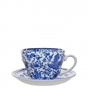 Breakfast Cup & Saucer, 425ml - Blue