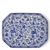 Octagonal/Rectangular Platter, 33x25cm - Blue