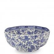 Octagonal Serving Bowl, 20cm - Blue