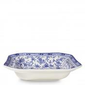 Octagonal Open Vegetable Serving Bowl/Dish, 24cm - Blue