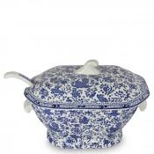 2-Piece Soup Tureen & Ladle - Blue