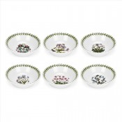Set/6 (Assorted Floral Motifs) Fruit Nappies/Saucers/Small Bowls, 13cm