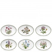 Set/6 (Assorted Floral Motifs) Oval Plates/Small Platters, 26.5cm