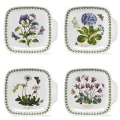 Set/4 Single Handle Canape Plates, 18.5x17cm