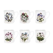 Set/6 (Assorted Floral Motifs) Breakfast Mugs, 9cm, 260ml