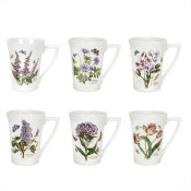 Set/6 (Assorted Floral Motifs) Mandarin Mugs, 11.5cm, 295ml