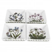 Set/4 (Assorted Floral Motifs) Square Mini Dishes, 8cm