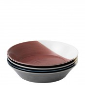 Set/4 Assorted Colours Round Pasta/Soup Bowls, 23cm, 1.1L