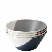 Set/4 Assorted Colours Round All Purpose Bowls, 21cm, 1.05L