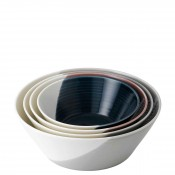 4-Piece Assorted Colours Nesting Bowl Set - Large