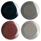 Set/4 Assorted Colours Dinner Plates, 28.5cm