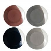 Set/4 Assorted Colours Luncheon Plates, 23.5cm