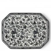 Octagonal/Rectangular Platter, 33x25cm - Black