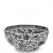 Octagonal Serving Bowl, 20cm - Black