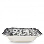 Octagonal Open Vegetable Serving Bowl/Dish, 24cm - Black