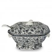 2-Piece Soup Tureen & Ladle - Black