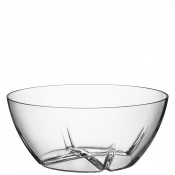 Large Glass Serving Bowl, 24cm, 2.5L - Clear