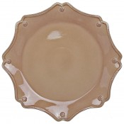 Cappuccino - Charger/Service Plate, 34cm - Scallop