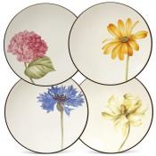 Set/4 Floral Appetizer Plates