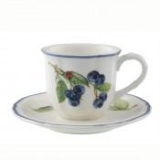 Set/4 Espresso Cups & Saucers