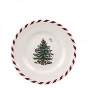 Set/4 Tidbit/Canape Plate, 16.5cm - Peppermint/Candy Cane
