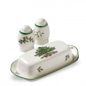 4-Piece Hostess Set: Covered Butter & Salt & Pepper Shakers