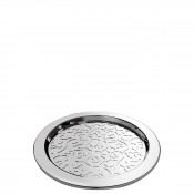 Set/4 Wine Glass Coasters, 12cm - Stainless Steel
