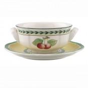 Set/4 Soup Cups & Saucers