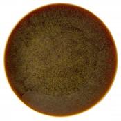 Flamed Caramel - Coupe Dinner Plate, 27cm