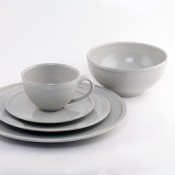 5 Piece Place Setting - Grey