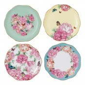 Set/4 Assorted Tidbit Plates, 11cm