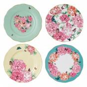 Set/4 Accent Plates, 20.5cm