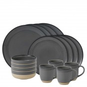 Service for 4 (16 Pieces) - Charcoal Grey