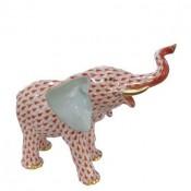 Vieux Herend - Mother Elephant Figurine, 13.5cm - Rust