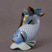 Vieux Herend - Fish Figurine, 14.5cm - Blue