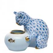 Vieux Herend - Gone Fishing Figurine, 6cm - Blue